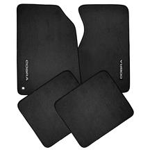 ACC Mustang Cobra Floor Mats w/ 94-95 Cobra Text  - Black  (94-98) 801-326