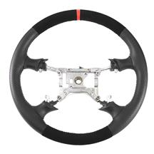 SVE Mustang FR500 Style Steering Wheel  - Black Micro Suede W/ Red Reference Stripe  (94-98)