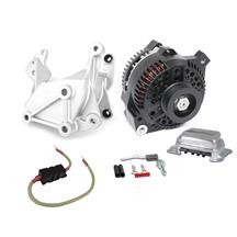 Mustang SVE 130 Amp Alternator & Bracket 1g to 3g Upgrade  - Black (79-85)