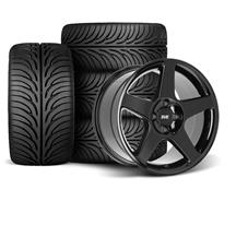 Mustang SVE 2003 Cobra Style Wheel & Tire Kit - 17X9/10  - Black - Z II Tires (79-93)