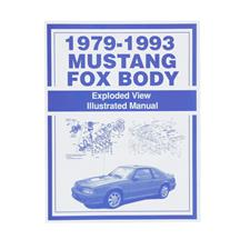 Mustang Fox Body Exploded View Illustrated Parts Manual (79-93)