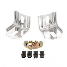 Mustang Header Panel Reinforcement Brackets and Hardware  Kit (79-93)