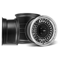 Mustang SVE Mesh Wheel Kit - 17x8/9  - Gloss Black (79-93)