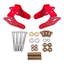 BMR Mustang Lower Control Arm Relocation Brackets - Red (79-04) CAB740R
