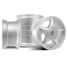 Mustang 5 Lug Pony Wheel & Ford Licensed Center Cap Kit  - 17x8 - Silver (79-93)