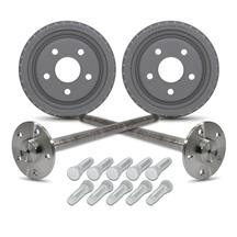 Mustang 5 Lug Rear 31 Spline Axle & Drum Kit (79-93)