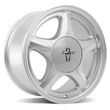 Mustang 5 Lug Pony Wheel & Ford Licensed Center Cap  - 17x10 - Silver (79-93)