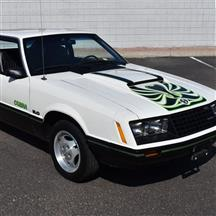 Phoenix Graphix Mustang Cobra Hood & Door Decal Kit  - Green (1979)