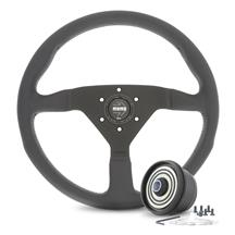 Mustang Momo Montecarlo Steering Wheel & Hub Adapter  - Black (84-04)