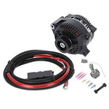 SVE  Mustang 200 Amp Alternator Full Upgrade Kit - Black (86-93) 5.0/5.8