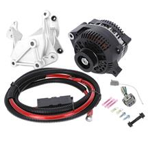 SVE Mustang 200 Amp Alternator & Bracket Full Upgrade Kit - Black (86-93) 5.0/5.8