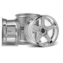 Mustang SVE 2003 Cobra Style Wheel Kit - 17x9/10.5  - Chrome - Deep Dish (94-04)
