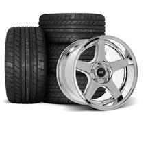 Mustang SVE 2003 Cobra Style Wheel & Tire Kit - 17x9/10.5  - Chrome - Deep Dish - M/T Tires (94-...