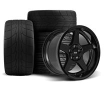 Mustang SVE 2003 Cobra Style Wheel & Tire Kit - 17x9/10.5  - Black - Deep Dish - NT555R (94-04)