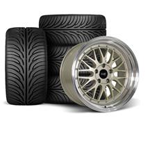 Mustang SVE Series 1 Wheel & Tire Kit - 18x9/10  - Metallic Sand - Z II Tires (94-04)