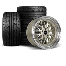 Mustang SVE Series 1 Wheel & Tire Kit - 18x9/10  - Metallic Sand - NT555 G2 Tires (94-04)