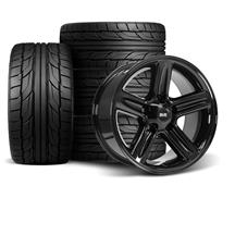 F-150 SVT Lightning SVE 03-04 Style Wheel & Tire Kit - 18x9.5 Gloss Black - NT555 G2 Tires (99-0...