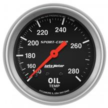 Auto Meter Sport Comp Oil temperature Gauge - 2 5/8""