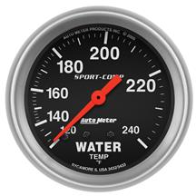 Auto Meter Sport Comp Water Temp Gauge - 2 5/8""