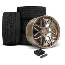 Downforce Wheel & Tire Kit - 20x8.5/10  - Satin Bronze - Invo Tires (05-14)