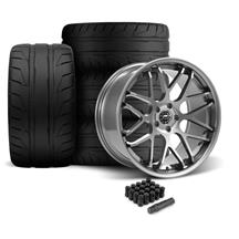 Mustang Downforce Wheel & Tire Kit - 20x8.5/10  - Gloss Graphite - NT05 Tires (05-14)