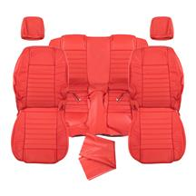 Mustang Katzkin Factory Style Leather Seat Upholstery - W/ Side-Impact Airbag - Red (05-09) - Co...