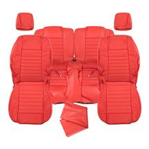 Mustang Katzkin Factory Style Leather Seat Upholstery - Non Side-Impact Airbag - Red (05-09) - C...