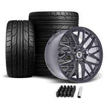 Mustang Downforce DC10 Wheel & Tire Kit - 20x9/10 - Arctic Forged (05-14)
