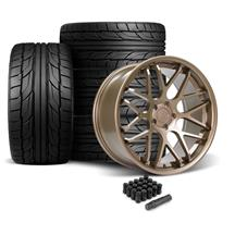 Mustang Downforce Wheel & Tire Kit - 20x8.5/10  - Satin Bronze - NT555 G2 Tires (05-14)