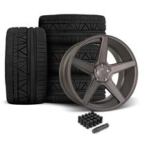 Mustang KMC 685 District Wheel & Tire Kit- 20x8.5/10.5  - Satin Bronze (05-14)