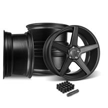 Mustang KMC 685 District Wheel Kit- 20x8.5/10.5  - Satin Black (05-14)