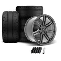 SVE Mustang R325 Wheel & Tire Kit - 19x10/11  - Gloss Graphite (05-14) Nitto NT05