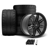 SVE Mustang R325 Wheel & Tire Kit - 19x10/11  - Gloss Black (05-14) Nitto NT05