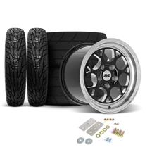 SVE Mustang Drag Comp Wheel & Tire Kit - 17x4.5/15x10  - Gloss Black - M/T Tires (05-14)