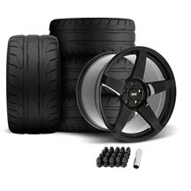 SVE Mustang R355 Wheel & Tire Kit - 19x10/11  - Gloss Black (05-14) Nitto NT05