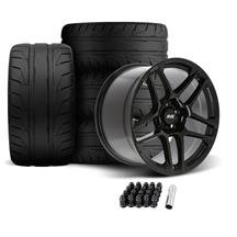 SVE Mustang X500 Wheel & Tire Kit - 19x10/11  - Gloss Black (05-14) Nitto NT05