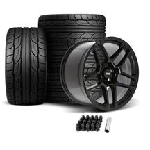 Mustang SVE X500 Wheel & Tire Kit - 19x10/11  - Gloss Black - NT555 G2 Tires (05-14)