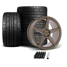 SVE Mustang XS5 Wheel & Tire Kit - 20x8.5/10  - Ceramic Bronze - NT555 G2 Tires (05-14)