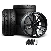 Velgen Mustang VF5 Wheel & Tire Kit - 20x10/11  - Gloss Black (05-14) Nitto NT555 G2
