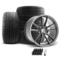 Velgen Mustang VF5 Wheel & Tire Kit - 20x10  - Gunmetal (05-14) Ohtsu FP8000
