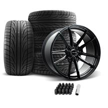 Velgen Mustang VF5 Wheel & Tire Kit - 20x10  - Gloss Black (05-14) Ohtsu FP8000