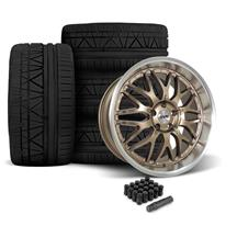 SVE Mustang Series 3 Wheel & 295 Tire Kit - 20x8.5/10  - Satin Bronze (05-14) Nitto Invo