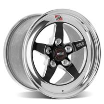 Mustang Weld RT-S S71 Drag Wheel - 15x9 - Fits Baer Brakes -  Black w/ Polished Lip (15-20)