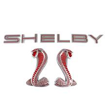 Mustang Ford Shelby GT500  Decklid & Fender Emblems   - Red (07-14)