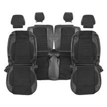 Mustang Katzkin GT/CS Style Leather/Suede Seat Upholstery  - Black (11-12) Coupe