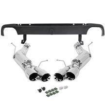Mustang SVE Axle Back Exhaust Kit  - Polished Quad Tips  (13-14)