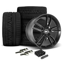 Mustang SVE GT7 Wheel & Tire kit - 19x10/11  - Satin Black - Invo Tires (15-18)