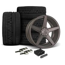 Mustang KMC 685 District Wheel & Tire Kit- 20x8.5/10  - Satin Bronze (15-18)