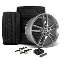 Mustang SVE GT7 Wheel & Tire Kit - 19x10/11  - Satin Graphite - Invo Tires (15-18)