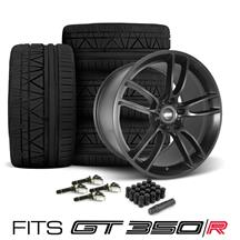 Mustang SVE GT350 GT7 Wheel & Tire Kit - 19x11/11.5  - Satin Black - Invo Tires (15-18)
